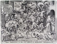 The same God so that he obtained of the Magus was by demons be pulled in pieces - Pieter Bruegel the Elder