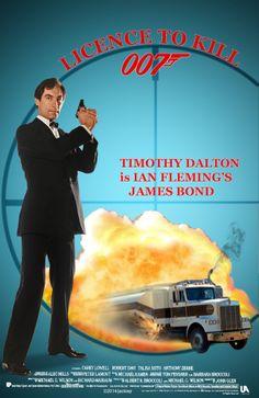 Timothy Dalton is James Bond in Licence to Kill. Artwork by jackiejr / James Bond Fan Art