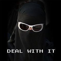 Niqab with Sunglasses