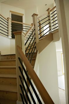 Colorado's trendy home design service Redo Stairs, Entry Stairs, Diy Stair Railing, Banister Ideas, Railings, Triangle House, Trendy Home, Stairways, Home Remodeling