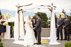 UBC Rose Garden Wedding ceremony. Alicia Keats Weddings + Events.