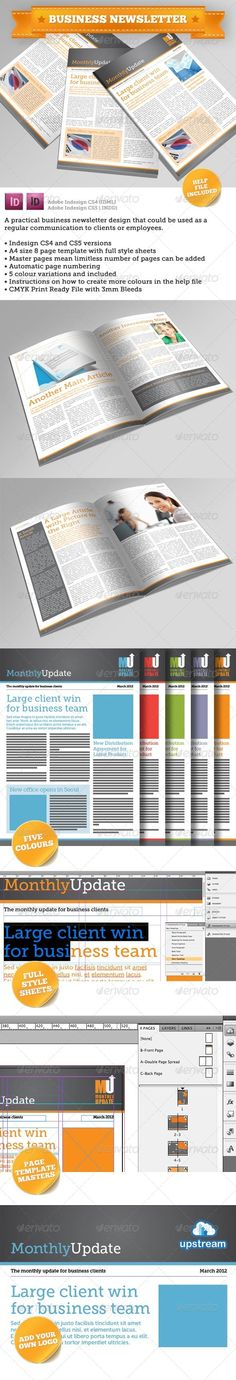 Newsletter Template (4 Pages – Adjustable) | Newsletter Templates