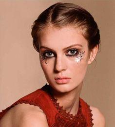Topshop glitter makeup