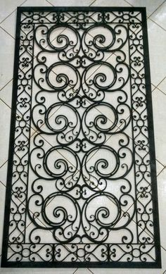 Grade de ferro para porta decorativa. Cortada em chapa de ferro 6,00mm.Disponivel para todo Brasil na Gunther Metaller