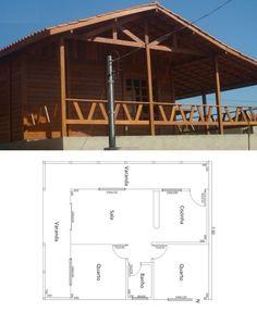 Plantas de casa de madeira: 5 modelos para construir - Casa&Festa