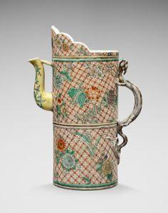Porcelain ewer, Duomuhu. China, Qing Dynasty (1644 - 1912). Underglazed mark. Ht 28 cm (11 in.)