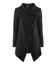 H&M GB asymmetrical front coat!!