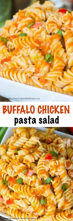 Pack a little extra heat (and a lot more flavor) into your summer cookout with this easy to make Buffalo Chicken Pasta Salad! This easy pasta salad is sure to be the most popular dish at any get-together!