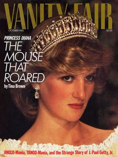 On this October 1985 cover, Diana, Princess of Wales, is seen wearing the stunning Cambridge Lovers' Knot Tiara, a wedding present from the Queen on the occasion of Diana's July 1981 marriage to the Prince of Wales. Upon the couple's divorce, the tiara returned to the Queen's possession. The cover story, written by Tina Brown, examined how marriage and a public life had changed young Diana, a former preschool teacher.