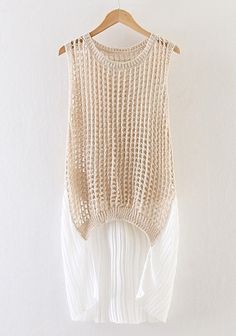 http://www.cichic.com/khaki-patchwork-hollow-out-sleeveless-sweater.html