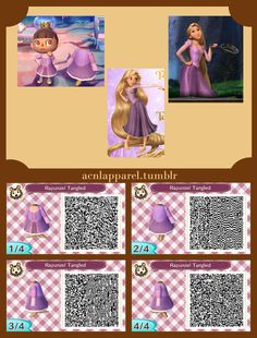 acnl qr codes for disney dresses