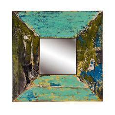Kapal Square Mirror | Overstock.com Industrial Wall Mirrors, Wall Mirrors Entryway, Big Wall Mirrors, Black Wall Mirror, Rustic Wall Mirrors, Contemporary Wall Mirrors, Round Wall Mirror, Wood Mirror, Mirror Bedroom
