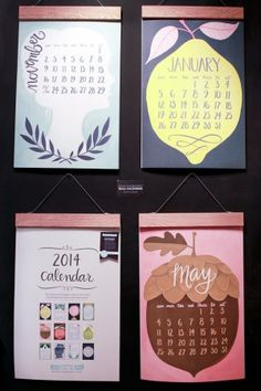 National Stationery Show 2013, Part 5 - One Canoe Two oversize wall calendar