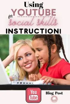 Are you looking for ideas on how to use youtube videos for social skills interventions? Check out this blog post where I share my favorite youtube channels and shorts and give you some tech tips too! #youtube #socialskills #teletherapy #socialcommunication #speechtherapy #socialemotionallearning