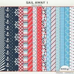 Sail Away 1 Digital Paper