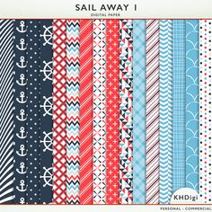 Sail Away 1 Digital Paper