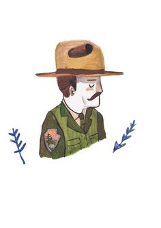 Park Ranger by Dick Vincent Illustration