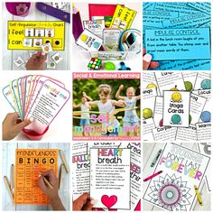 Teachers can use these self management ideas to teach kids to calm down self-regulate and manage their behavior during social-emotional learning lessons and activities with kids along with yoga breathing exercises and using a calm down kit Teaching Social Skills, Social Emotional Learning, Teaching Kids, Kids Learning, Kindness Activities, Mindfulness Activities, Classroom Activities, Self Regulation Strategies, Calm Down Kit