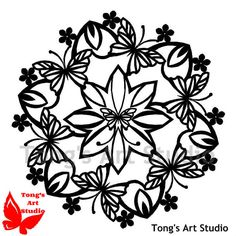 Mandala Style Paper Cut Pattern-009, Personal use pattern, Cut your own, Cutting Patterns,Paper Cutting Template,