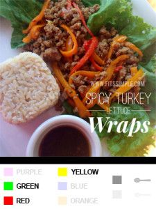 21 Day Fix Recipes, Meal Plans, and ALL THE DETAILS!!!  Spicy Turkey Lettuce Wraps