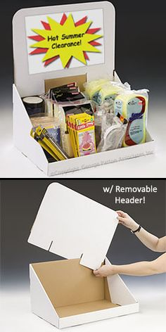 Cardboard POP Display: for Counter Top Presentations