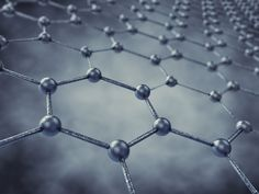 Graphene, a hexagonal arrangement of single carbon atoms that extends across two dimensions, lighter than steel but many times stronger, with better electrical conductivity than copper.