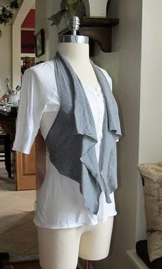 No sew vest refashion from t-shirt