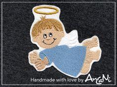 Aufnäher Schutzengel ♥ Engel ♥ Weihnachten ♥ Junge von AnCaNi auf DaWanda.com