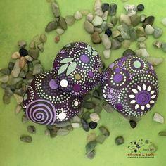Rock Art Painted Rocks Mandala Inspired di etherealearthrockart