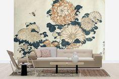 Hokusai, Katsushika - Chrysanthemums - Tapetit / tapetti - Photowall