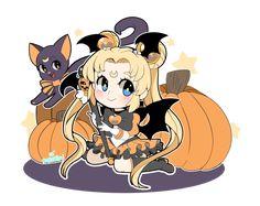 Sailor Moon Halloween by Pararipi.deviantart.com on @DeviantArt