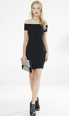 off the shoulder sheath dress