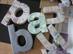 DIY 3D Cardboard Letters