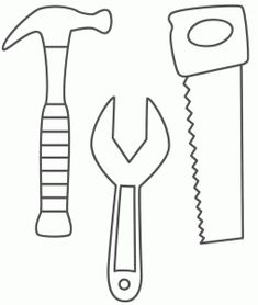 Construction Theme - tools Also on getcoloringpages.com