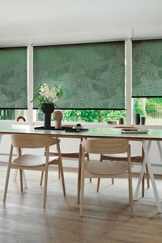 Inspired by Nature Blinds For You, Window Styles, Roller Blinds, Interior S, Indoor Garden, Your Space, Dining Table, Windows, Inspiration