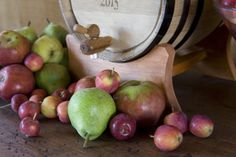 Julian hard cider with a wide variety of heritage apples and pears.