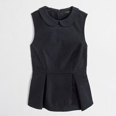 collared peplum top / j.crew factory