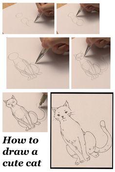how to draw a cute cat #drawingtutorial #cat #drawing #manga