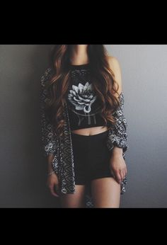 #outfit #black #rose