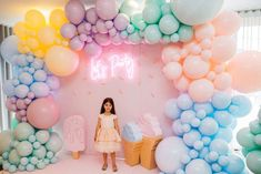 There are many ideas for your baby birthday party, balloon decorations are popular in such parties. Birthday Balloon Decorations, Birthday Balloons, Decoration Ideas For Birthday, 6th Birthday Parties, Girl Birthday, Pastell Party, Gateau Baby Shower, Deco Ballon, Baby Party