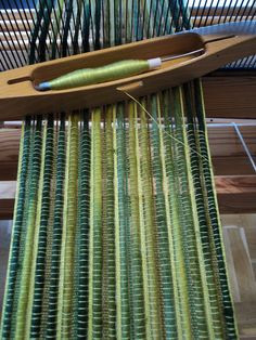 every other warp yarn is extra large--weft is fine yarn....
