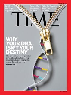 We are not controlled by our DNA...  Our environment controls the expression of our DNA...