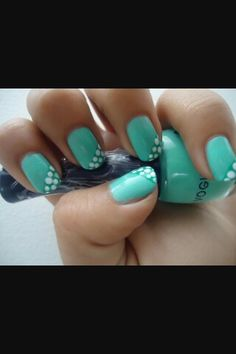 Swatch, Nail Polish, Butterfly, Turquoise, Nails, Beauty, Shades Of Green, Green Accents, Dot Nail Designs