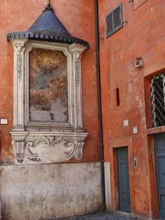 Rome, Outdoor Religious Fresco
