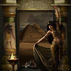 Bastet, Egyptian, Goddess of cats, love, and joy