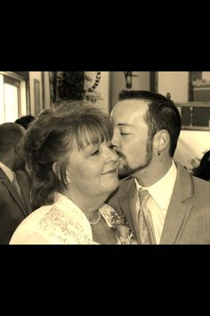 Mother and son. Wedding day.