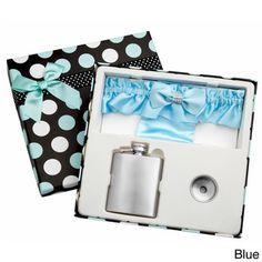 3-Ounce Blue Garter Belt Flask for Weddings with Gift Box | Overstock.com Shopping - Big Discounts on Top Shelf Flasks Other Wedding Essentials