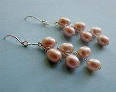 Nailed Pearl Earrings, a Free Wire Jewelry Pattern by Albina Manning for Wire-Sculpture.com
