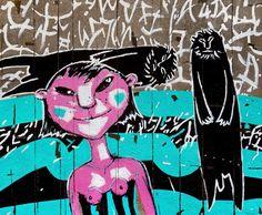 'Susanna and the Elders'. 2017. Acrylic on canvas. 80x100cm.   'Selfies With Alien'. Series of artworks    #susanna #elders #biblicalstory #woman #man #dada #calligraphy #selfie #alien #expression #girl #nude #ufo #Artists #Artwork #art #painting #semenyuk #artsemenyuk #semenyukart #семенюк #живопись #искусство  #пришелец #acrylic #contemporaryart #fineart #modernart #abstraction #expressionism
