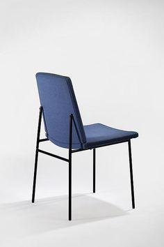 Pierre Guariche; Enameled Metal Side Chair for Huchers Minvielle, 1958.